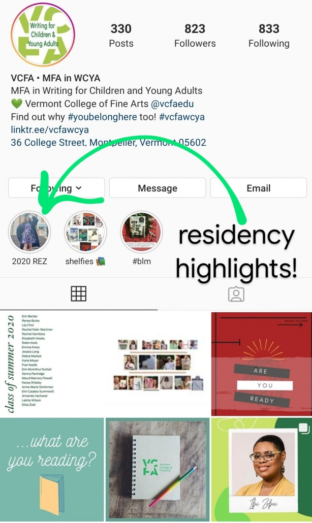 Residency Highlights Instagram